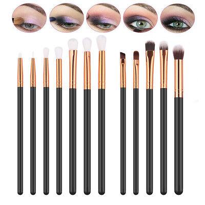 12tlg Professionelle Kosmetik Pinsel-Set Make up Brush Kit Eyeliner