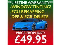 ** LIFETIME WARRANTY ** CAR WINDOW TINTING, ECU REMAPPING, DPF & EGR DELETE!