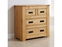 OXFORD OAK CHEST OF DRAWERS