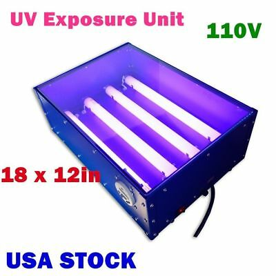 Usa 110v 60w 18 X 12in Uv Exposure Unit Screen Printing Silk Screening Making