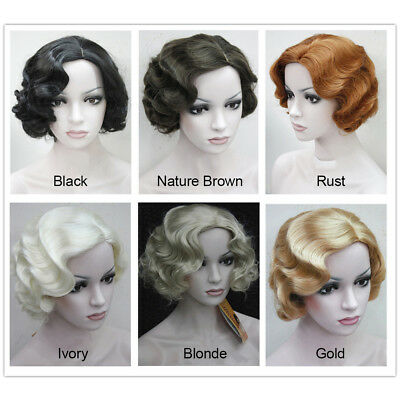 Vintage Short Wigs Marilyn Monroe Wig Women Party Fancy Dress Costume Accessreis