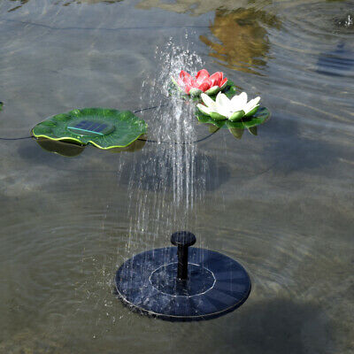 US Bird Bath Solar Powered Fountain Floating Water Pump Outdoor Pond Garden Pool