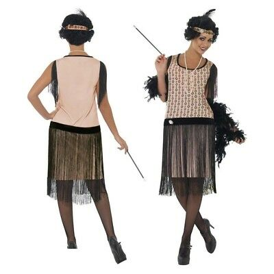 apper Great Gatsby Ladies Fancy Dress Costume Size 8-18 (1920s Great Gatsby Kostüm)