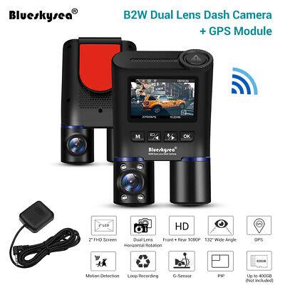 Blueskysea B2W Dual Lens HD 1080P Night Vision Wi-Fi GPS Car Dash Cam For Taxi