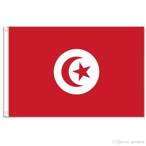 The red and white flag of Tunisia, 3 x 5 ft, BRAND NEW !