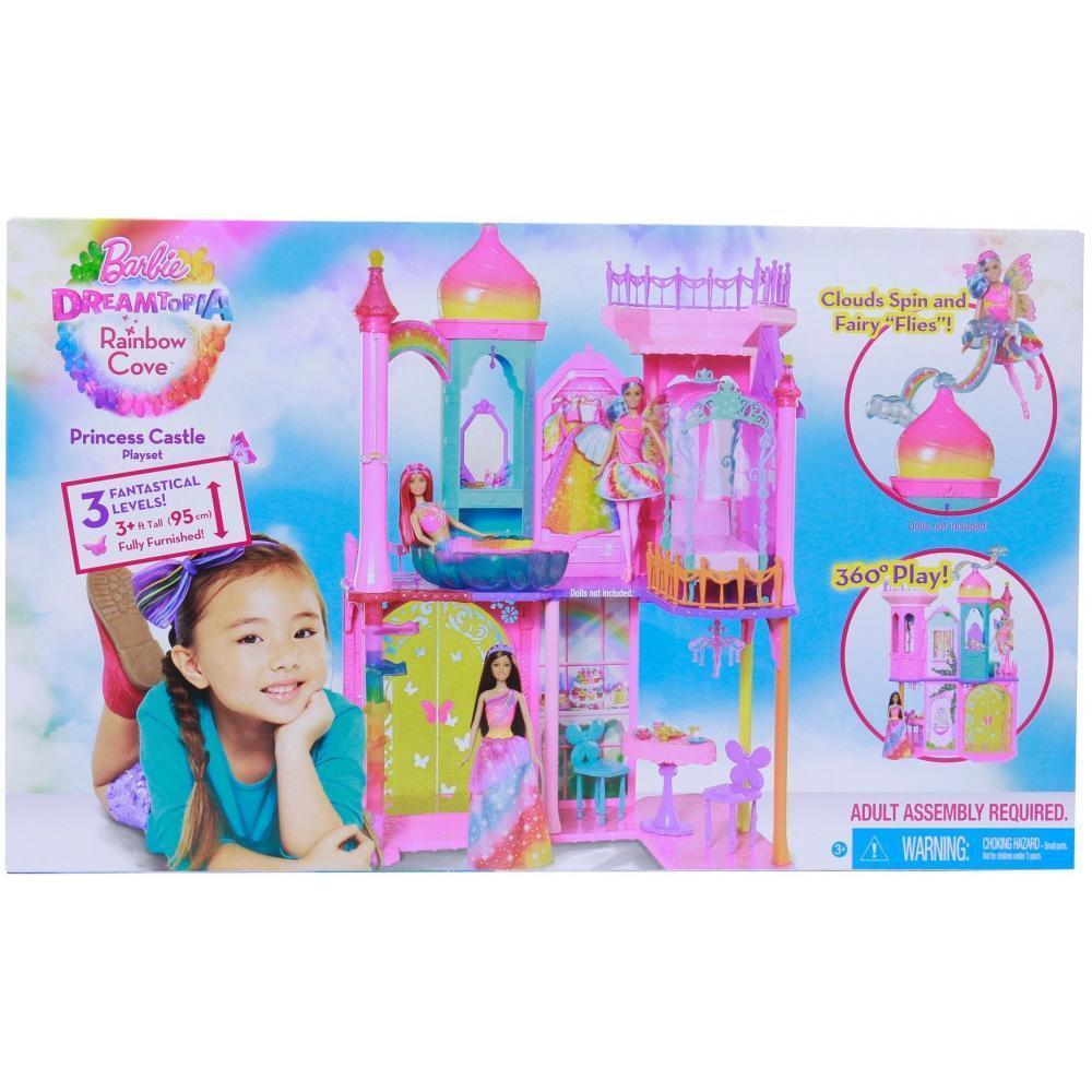 Barbie Dreamtopia Rainbow Cove Princess Castle Playset Doll House 3' Tall NEW!