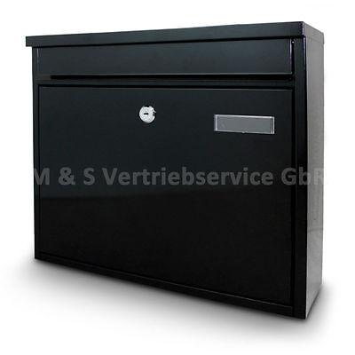 Briefkasten Postkasten Mailbox Letterbox Wandbriefkasten Postbox Schwarz online kaufen