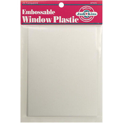 "Judikins Embossable Window Plastic Acetate 20 Sheets 4.25""X5.5"" AP405"