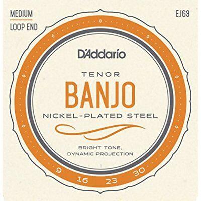 D'Addario EJ63 4-String Tenor Banjo strings 9-30. formally J-63