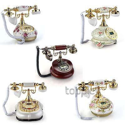 Ceramic Home Desk Telephone Retro Vintage Antique Classic Style Floral
