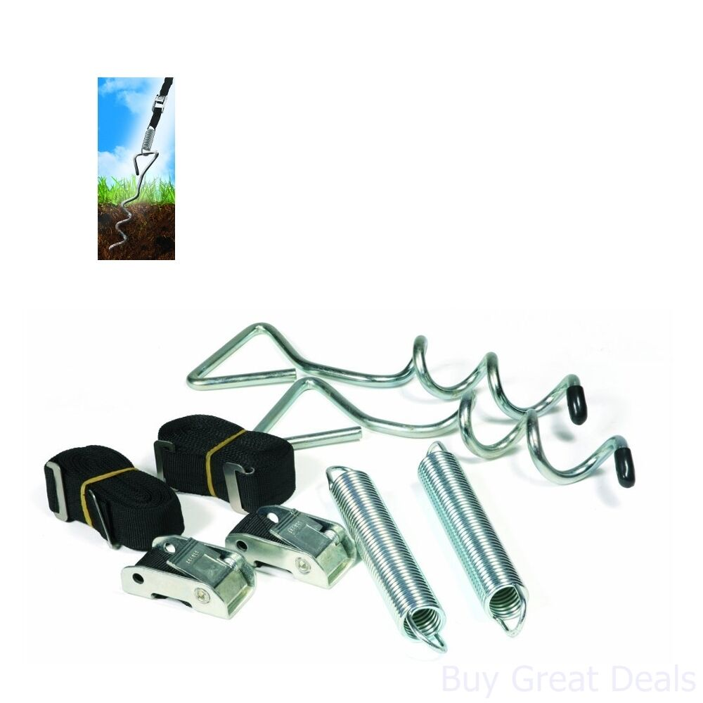 Camco 42593 Awning Anchor Kit With Pull Tension Strap Rv Trailer Camper Part Ebay