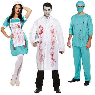 Blutig Zombie Doktor Chirurg Krankenschwester Kostüm Halloween Horror Paar