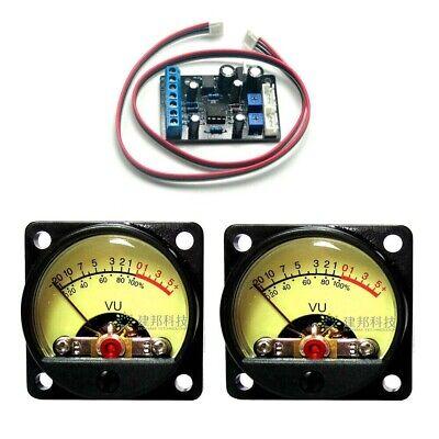 2pc Tr-35 Vu Panel Meters Db Level Header 1pc Ta7318p Power Supply Driver Board