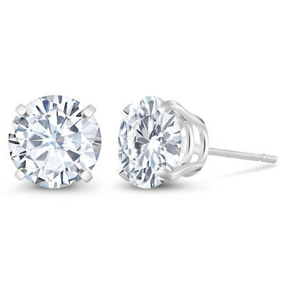 Charles & Colvard 3.00 ctw Round Moissanite Stud Earrings in 925 Sterling Silver