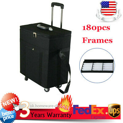 Black Box Organizer Display Case For 180 Pair Eyeglassessunglasses Trolley Case