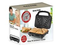 Salter XL Deep Fill Tosted Sandwich Toaster Toastie Maker Two Portions.............Brand New