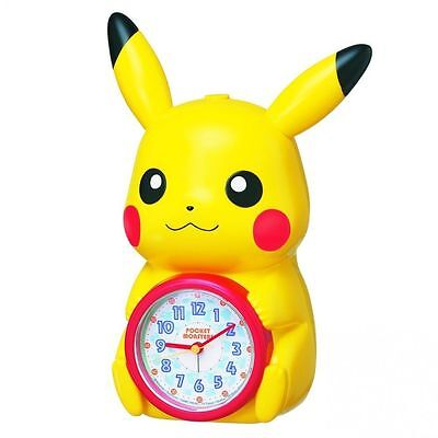 SEIKO CLOCK Pokemon Pikachu alarm clock JF379A From Japan