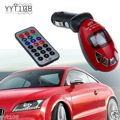 FM Wireless Transmitter  LCD Car Kit Adapter MP3 Player USB SD MMC Remote Charge