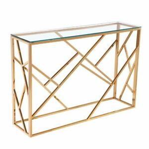 GOLD CONSOLE TABLE ON  SALE (BF-147)
