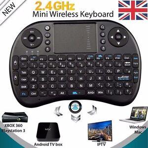 UK 2.4GHz Wireless Keyboard Touchpad Remote Control for Raspberry Pi MAC KODI PC