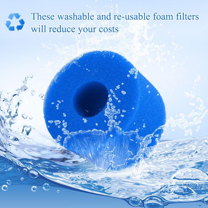 Reusable Swimming Pool Hot Tub Filter Foam Filter Cartridge