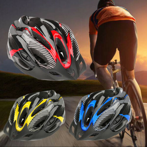 Cycling Bicycle Adjustable Carbon Helmet Adult Mens Bike With Visor Mountain