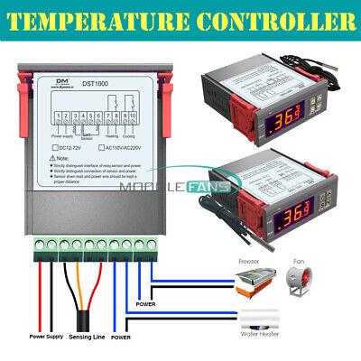 Dst1000 Stc1000 Ac 110-220v Dc 12-72v 12v 24v Thermostat Temperature Controller