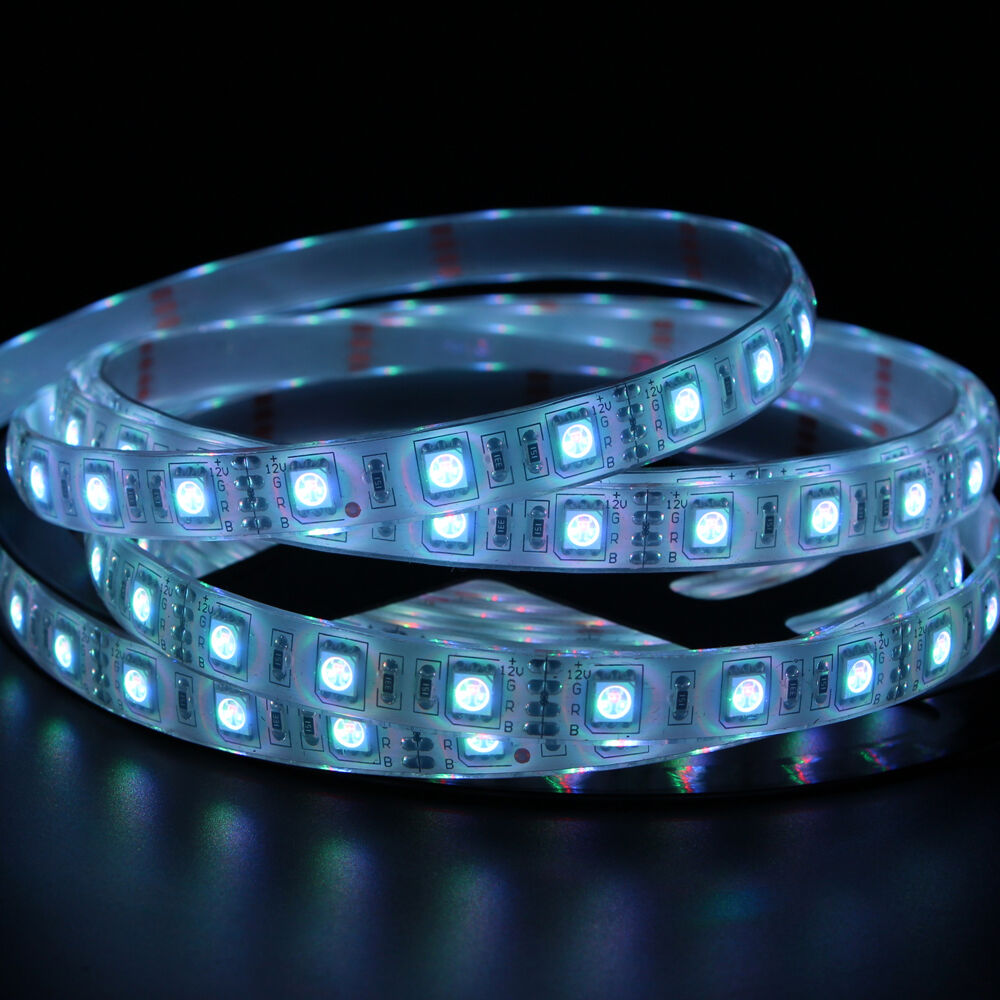 Outdoor 12 Volt 60leds Meter Led Strip Smd 5050 Rgb: 16ft 5M SMD 5050 300 LED RGB Ip68 Waterproof Flexible Tape