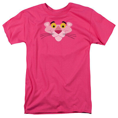 PINK PANTHER Cartoon GIANT FACE Licensed Adult T-Shirt All Sizes