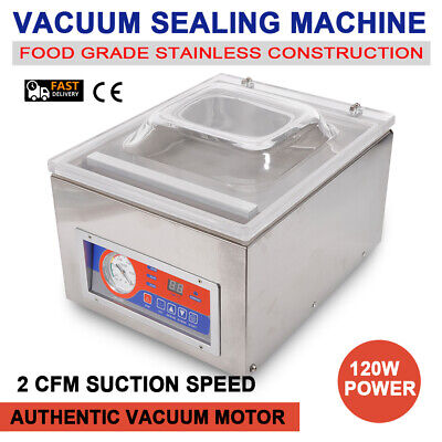 Digital Vacuum Packing Sealing Machine Sealer 120w Packaging Industrial Chamber