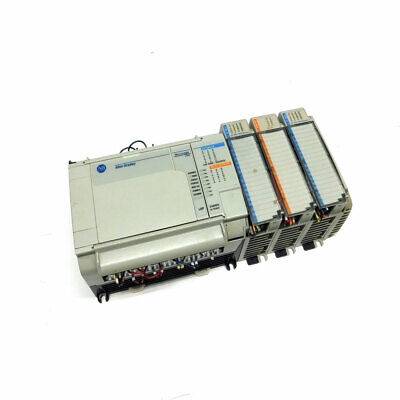Allen Bradley Micrologix 1500 1764-24bwa Plc Base Unit W 1764-lsp 3 Modules