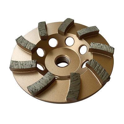 "4"" Concrete Grinding Cup Wheels 9 Diamond Abrasive Seg 5/8""-11 Arbor"