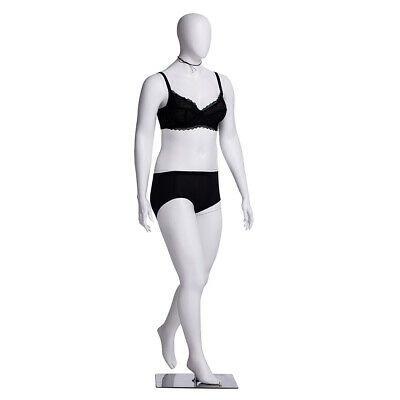Matte White Adult Female Fiberglass Plus Size Egg Head Fashion Mannequin