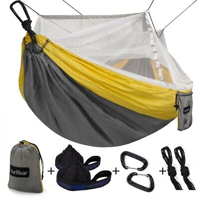 Best Hammock Camping With Mosquito Net Double Tent Tree Straps Parachute