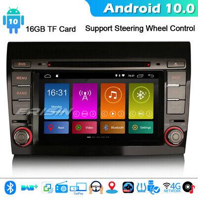 DSP Android 10.0 GPS Autorradios GPS Navegación FIAT BRAVO Bluetooth TDT CarPlay