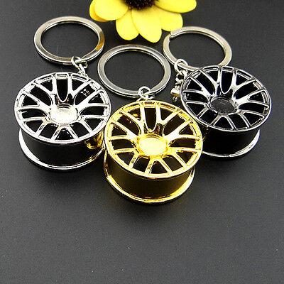 2017New Creative Wheel Hub Rim Model Mans Keychain Car Key Fob Cool Gift Hot