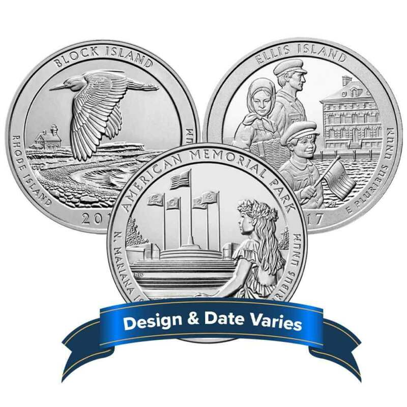 5 oz America the Beautiful Silver .999 Fine Random Date & Design