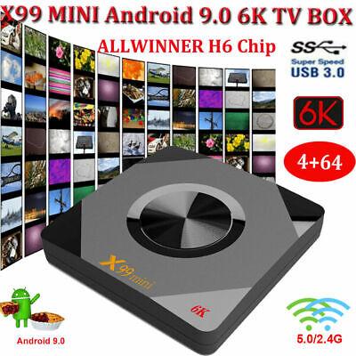 X99 MINI Smart TV Box HD WIFI 4K Android 9.0 4GB+64GB Media Quad Core 3D H6 USB