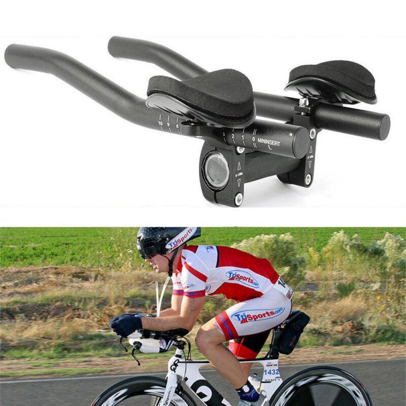 Bike Road Mountain Bicycle Alloy Triathlon Aero Rest Handle Bar Clip On Tri Bars