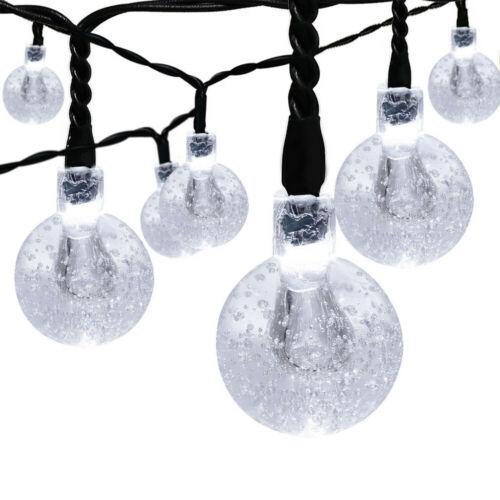 21FT Outdoor String Lights 30 LED Solar Bulb Patio Party Yard Garden Wedding 2