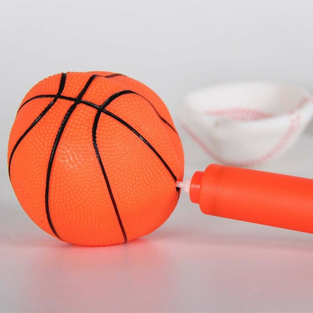 4pcs Mini Ball and Inflator Portable Bouncy Basketball Sports Ball Children Toy