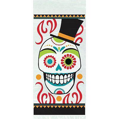 20 Halloween Day of the Dead Cellophane treat Bags Sugar Skull Dia Muertos Loot