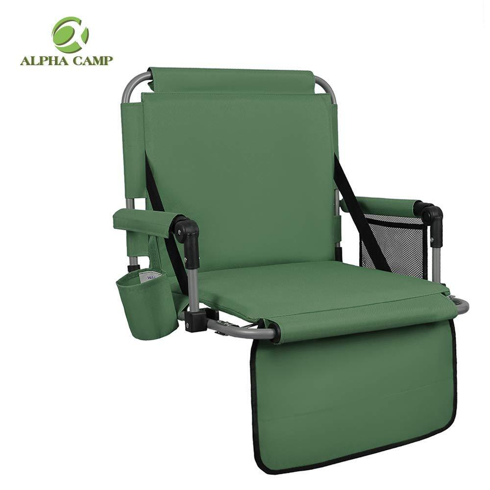 ALPHA CAMP Stadium Seat Padded Chair for Bleachers with Back