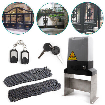 Sliding Gate Door Opener 1500KG Electric Automatic Motor w/ Remote Control