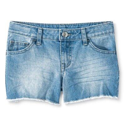 Cherokee Girls Denim Light Blue Sunshine Wash Cut Off Shorts, Size M 7/8