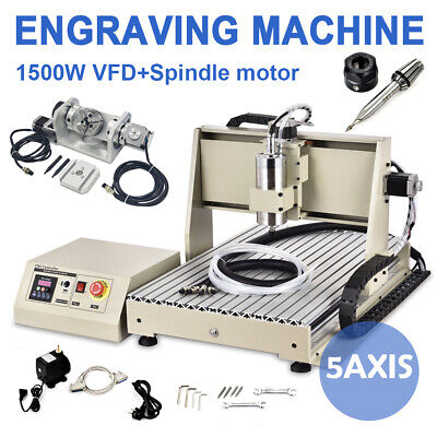 6040 5axis Router Engraver Metal Wood Milling Carving Drilling Machine 1.5kw Usb