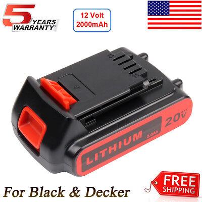 LITHIUM Battery For Black + Decker LBXR20 20V Brand New PACK LB20 LBX20 - Black & Decker Steel Battery