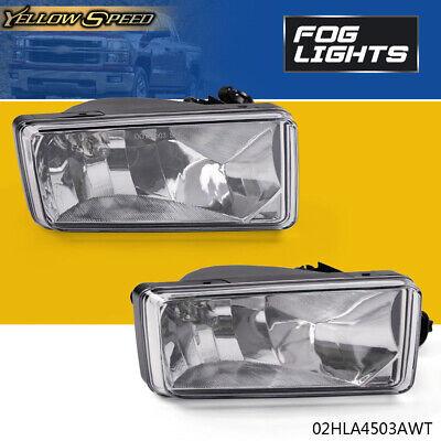 for 07-13 Chevy Silverado 1500 2500 HD Tahoe Clear Bumper Fog Light Lamps PAIR ()