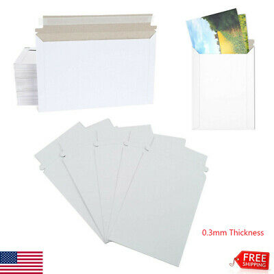 50100pcs 9x11.5 6x8 6.5x4.5 Rigid Photo Mailers Envelopes Flat Self Seal