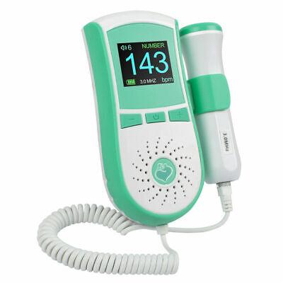 Lcd 3mhz Fetal Doppler Heartbeat Rate Color Display Pocket Prenatal Monitor